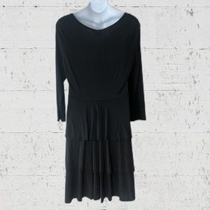 LuLaRoe Georgia Black Dress Tiers 3xl